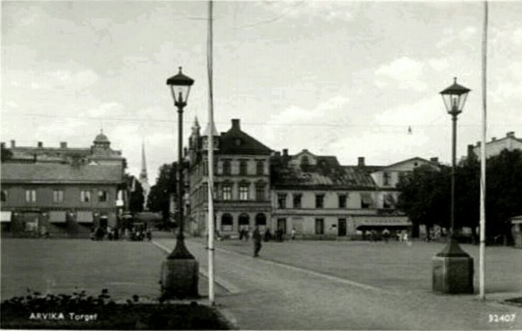 Värmland Arvika Torget 1940-talet utg Pressbyrån