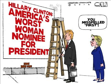 Hillary Clinton: America's worst woman nominee for President |POLITICALLY INCORRECT CARTOONS