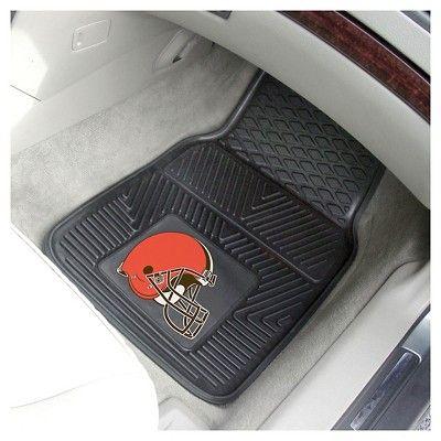 NFL Fan Mats 2pc Vinyl Car Mat Set - Cleveland Browns