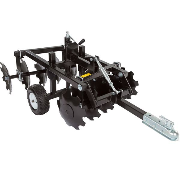 The ATV Disc Harrow let's you easily plant food plots for deer and other game with an ATV, UTV, or tractor. Features ten 14