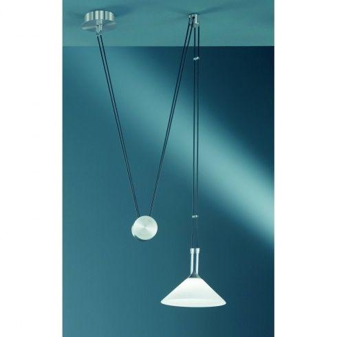 Wofi Lincoln Halogen Matt Nickel Rise And Fall Ceiling Pendant Ceiling Pendantkitchen Lightingdining