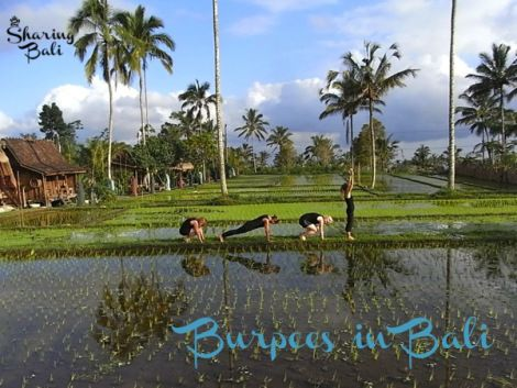 Blissful Burpees?? Who can complain with a backdrop like this at Sharing Bali.