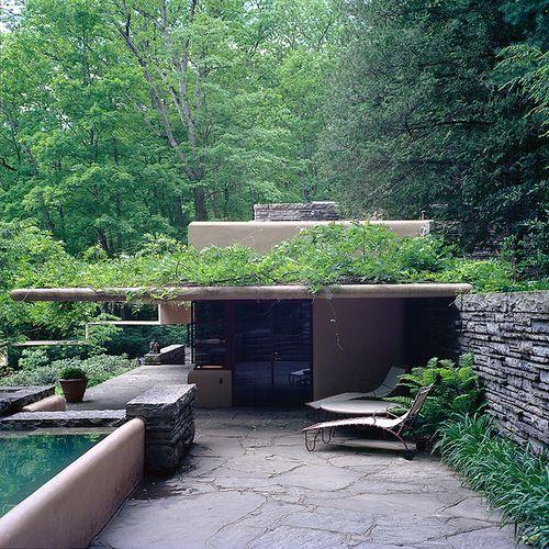Guest House. Fallingwater. Frank Lloyd Wright. 1936-1939, Bear Run, Pennsylvania
