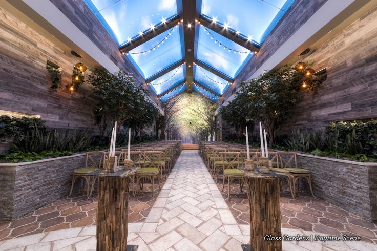 Indoor Garden Wedding Venue ideal for woodland weddings | fairytale weddings in Las Vegas