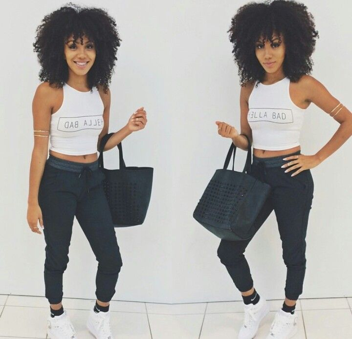 Teen Style Id Defo Rock Out The Natural Hair Like This With The Bae Fa Hi0n Pinterest
