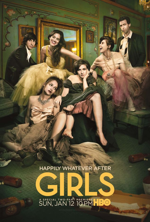 """Girls Season 3 poster: Lena Dunham wants you to live """"Happily Whatever After."""" I can't wait!!!!!!"""