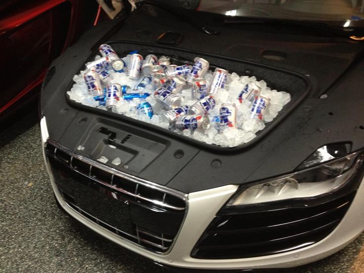 Audi R8 The Beer Cooler Upcycle Car Parts Reuse