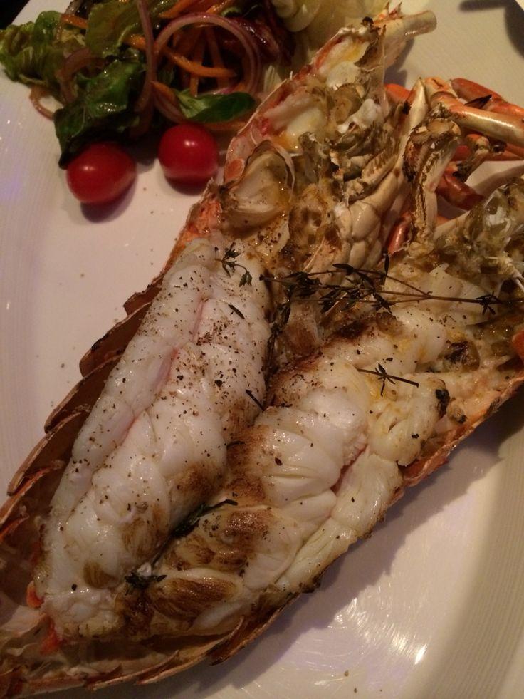 Grilled river prawn