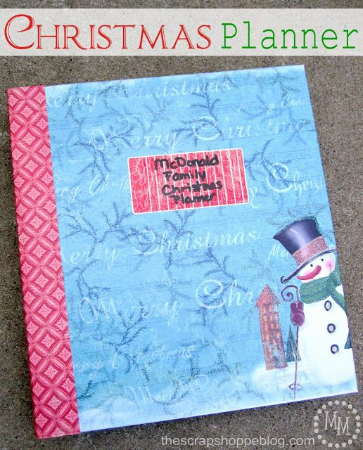 The Scrap Shoppe: {Workshop Wednesday} Christmas Planner
