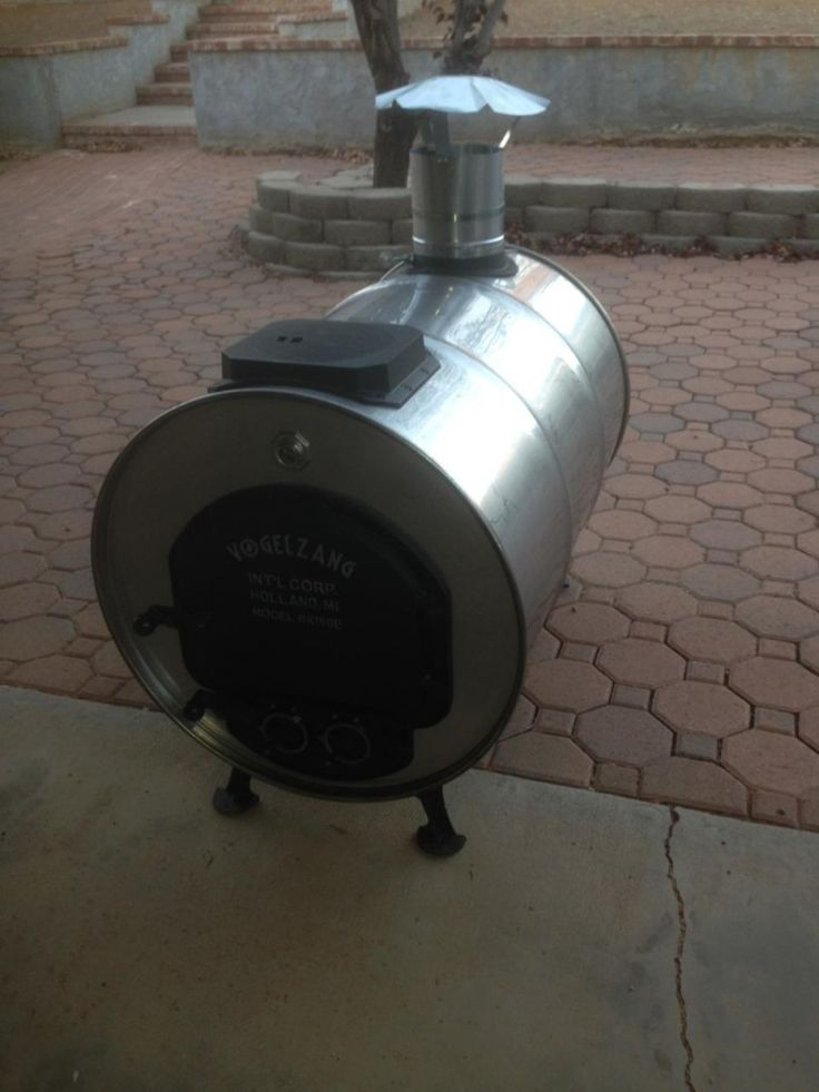 Stainless Steel Barrel Stove Created by one of our customers!  Not to shabby!  See www.usedstainlesssteelbarrels.com