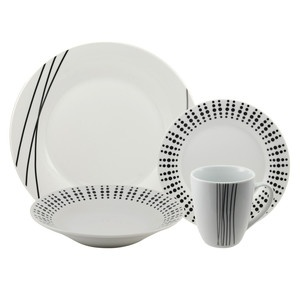 Black and White Dinnerware (Elements) Similar to my good china  sc 1 st  Pinterest & 94 best Black and white dinnerware images on Pinterest | Dish sets ...