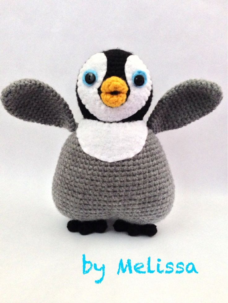 Amigurumi Patterns Penguin : Amigurumi penguin inspired by mumble from happy feet