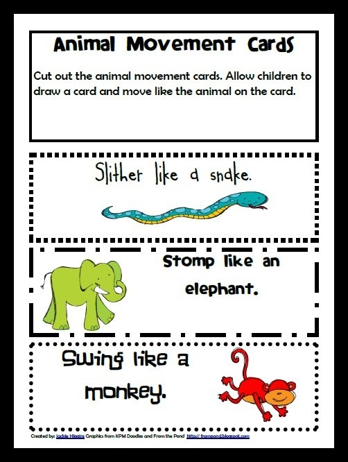 Zoo Animal Movement Game in Zoo Book Adventure Preschool Learning Pack- FREE! - Click image to find more Kids Pinterest pins