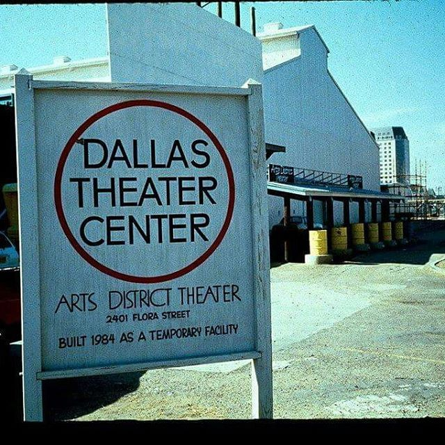 #tbt @dallastheatercenter's 'Arts District Theater' opened in 1984, and was designed by distinguished stage designer Eugene Lee.