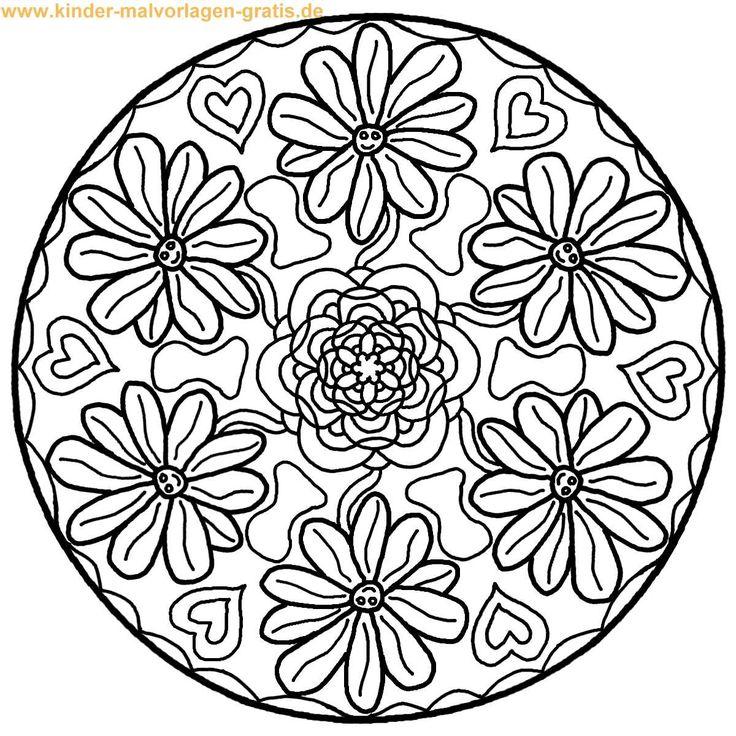 56 Best Mandalas To Color 6 Points Images