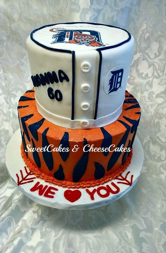 Detroit Tigers cake for a 60th birthday