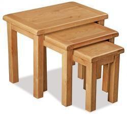 Salisbury Oak Nest Of Tables - Ideal Furniture