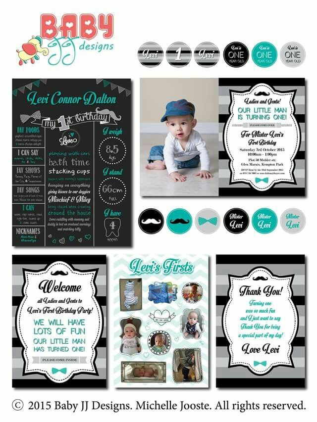 Little Man Birthday Design Package by Baby JJ Designs https://facebook.com/babyjjdesigns