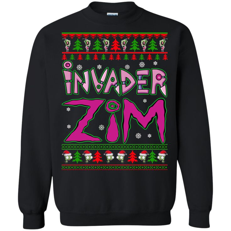 Invader Zim ugly Christmas sweater long sleeve shirt