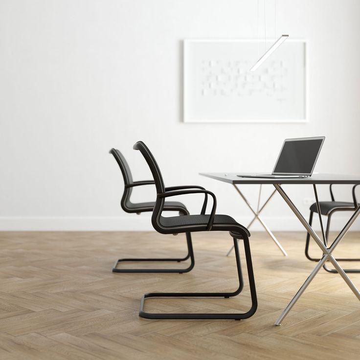 ELIPSIS впечатляет своей элегантной эллиптической формой, объединяющая в себе оригинальную стальную раму и изящную чашу сиденья. Мягкая чаша стула позволяет расслабится во время длительных конференций или переговоров.