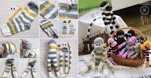 How to Make Cute Sock Monkey - Neatologie.comNeatologie.com