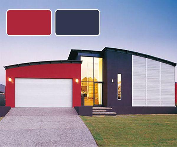 Resultado De Imagen Para Combinacion Casa Rojo Colores Casas Exteriores Exteriores De Casas Casas