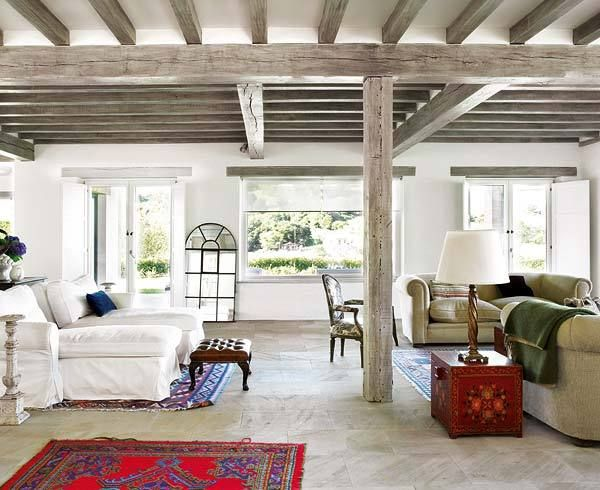 Les 25 meilleures id es concernant poutres peintes sur for Decoration maison normande