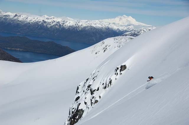Some amazing backcountry lines and views in Patagonia  #Travel #gear #fitness #powderquest #style #ski #snowboard www.powderquest.com