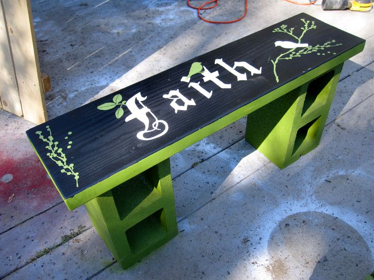 pics of cinderblock benches   My best friend wanted a fire pit to add to her new backyard addition ...