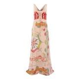 Pink Patterned Sheer Dress