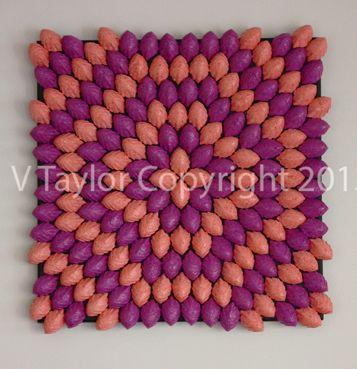 The Paperer Pulp to Sculpt Collection Colours: Peach & Purple Artwork Size: 41.5cm x 41.5cm x 4cm