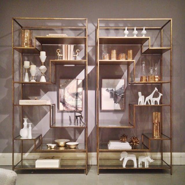 Brass Étagères by DwellStudio — High Point Fall Market 2013