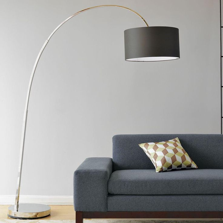 Overarching Floor Lamp - Polished Nickel