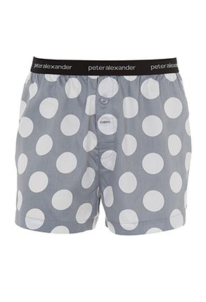 Image for Grey Spot Boxer Short from Peter Alexander
