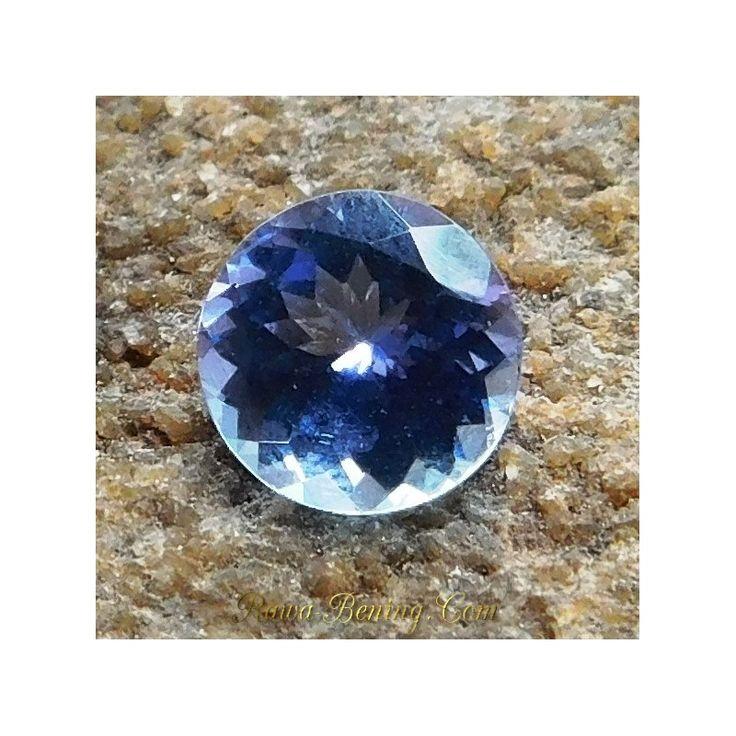 Ada Batu Permata Natural Tanzanite Round Cut Biru 1.00 Carat