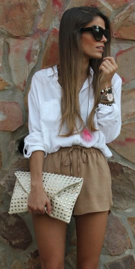 SUMMER DATE shorts and relaxed shirt