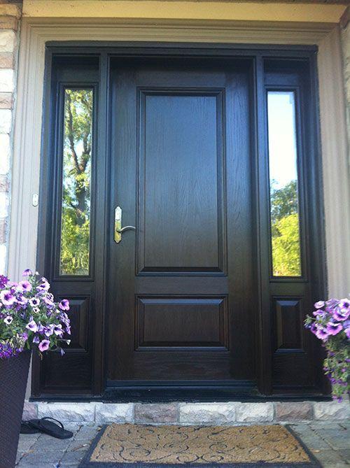 love the dark front door