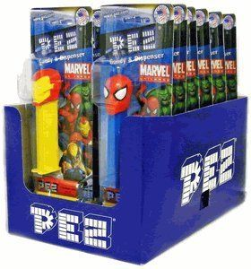 Party Bag - Marvel Superheroes Pez Dispensers(Pack of 12) by Candy Crate, http://www.amazon.com/dp/B004983DGC/ref=cm_sw_r_pi_dp_o7XSpb1VWVJTG