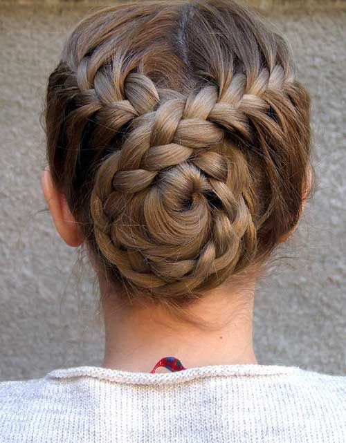 7.Prom Braided Hairstyle