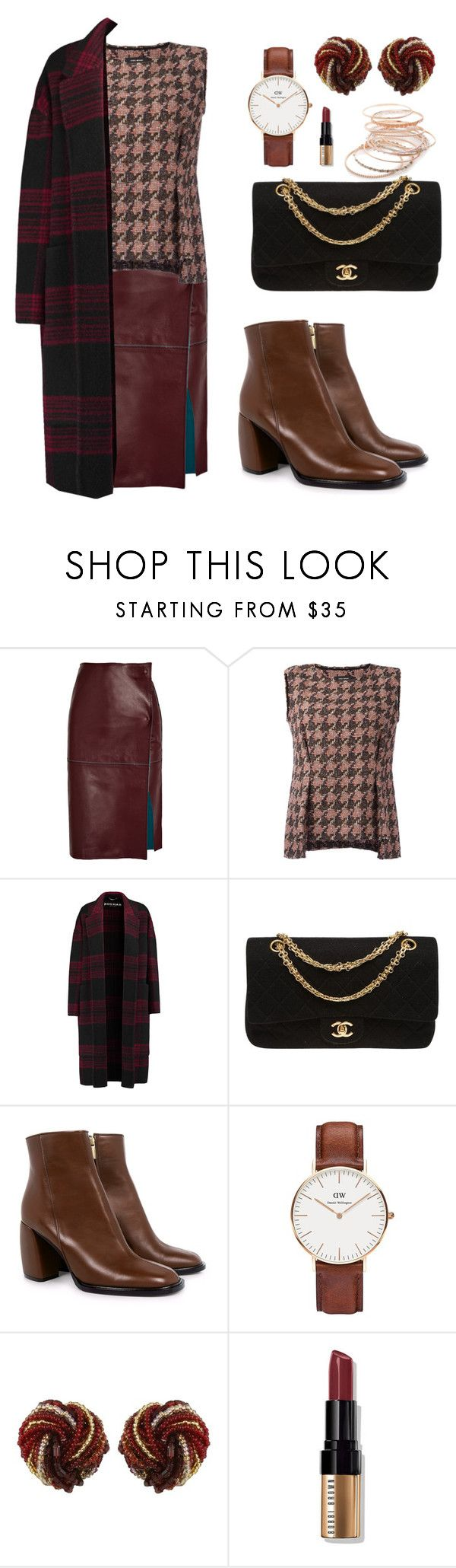 """""""cartela clássica do outono."""" by jaquemel ❤ liked on Polyvore featuring By Malene Birger, Isabel Marant, Rochas, Chanel, TIBI, Daniel Wellington, Bobbi Brown Cosmetics and Red Camel"""