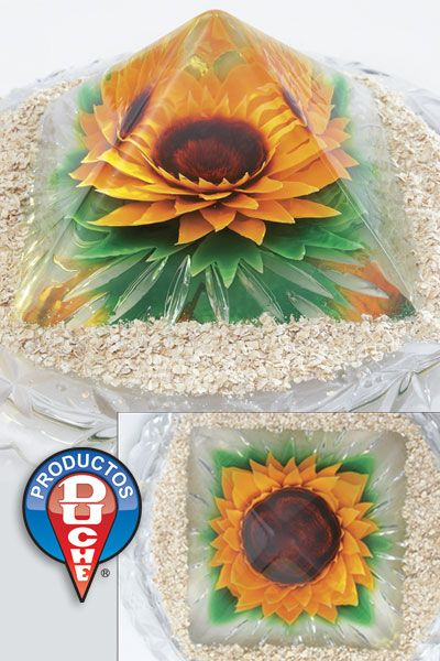 Sunflower Pyramid Gelatin
