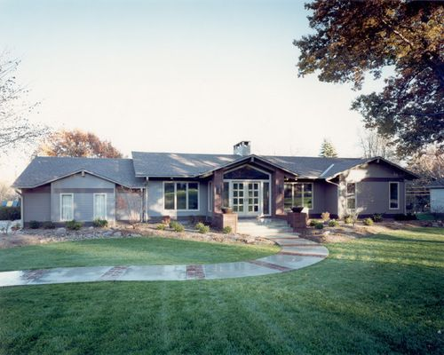 traditional ranch homes exterior design ideas remodels photos - Ranch Home Exterior