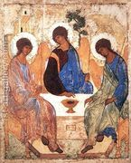 The Holy Trinity, 1420s  by Andrei Rublev