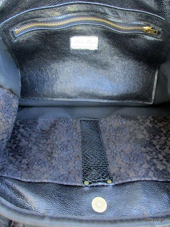 Negro ácido lavado  corte láser  pelo en piel de vaca bolso