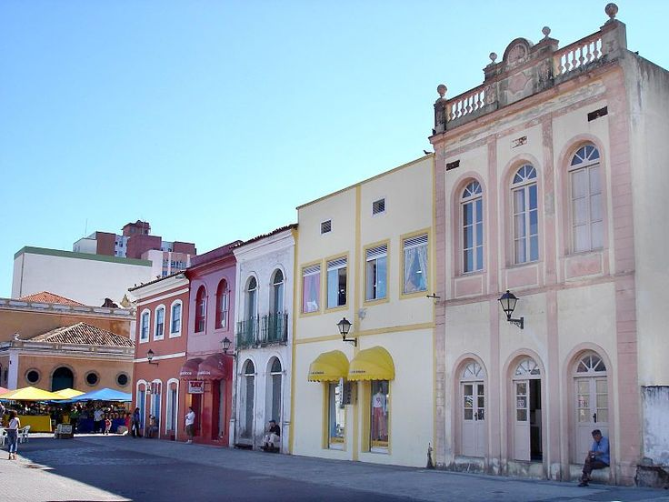 Traditional architecture in the historic center in Florianopólis