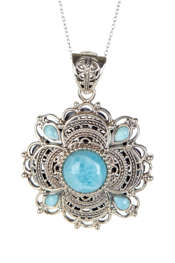 Sterling silver and Larimar pendent