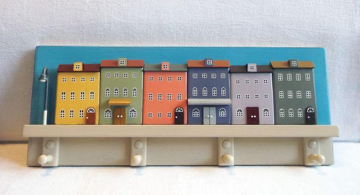 Key holder, Wall Key Holder, miniature house, Jewelry Hanger, Jewelry Organizer, Home Decor
