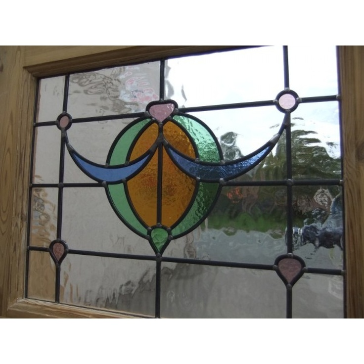 1930 Edwardian Stained Glass Exterior Door - The Bow