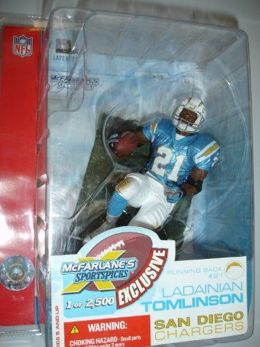 McFarlane Toys NFL Sports Picks Super Bowl XXXVII 37 Exclusive Action Figure Ladainian Tomlinson *** You can get additional details at the image link.Note:It is affiliate link to Amazon.
