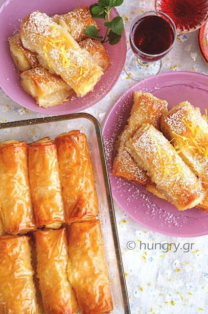 Custard Filled Pastry Rolls-Galaktoboureko                                                                                                                                                                                 More